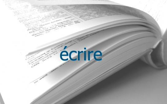 Definition Ecrire Conjugaison Le Parisien