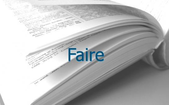 Definition Faire Conjugaison Le Parisien