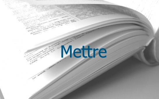 Definition Mettre Conjugaison Le Parisien