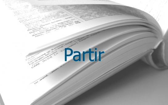 Definition Partir Conjugaison Le Parisien