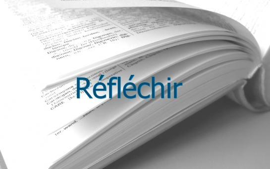Definition Reflechir Conjugaison Le Parisien