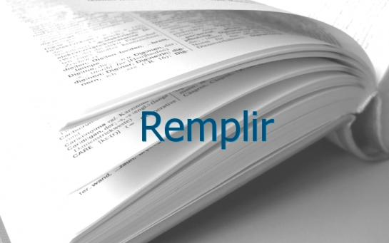 Definition Remplir Conjugaison Le Parisien